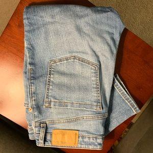 Frank & Oak light wash skinny jeans